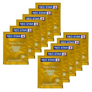 Red Star HOZQ8-529 Premier Blanc Wine Yeast, 5 g, Yellow (Pack of 11)