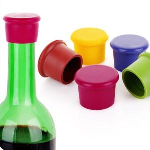 1Pcs Silicone Bar Wine Stopper, Fresh Keeping Bottle Cap, Flavored Beer/Beverage Corks, Kitchen Champagne Closures