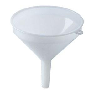 Funnel - 10 cm (4 in) - White Plastic