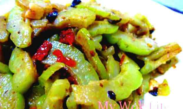 Stir fried bitter gourd with black bean