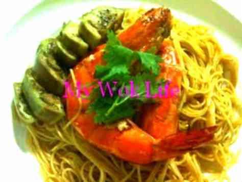 Tom Yum Prawn Spaghetti Pasta