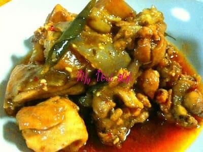 Alluring Claypot Chicken & Eggplant Stew (惹味茄子鸡煲)