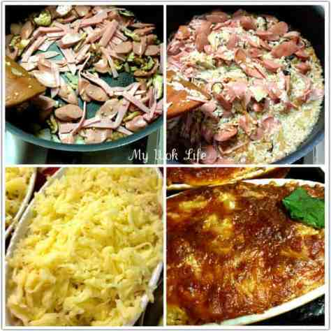 Baked rice cooking process