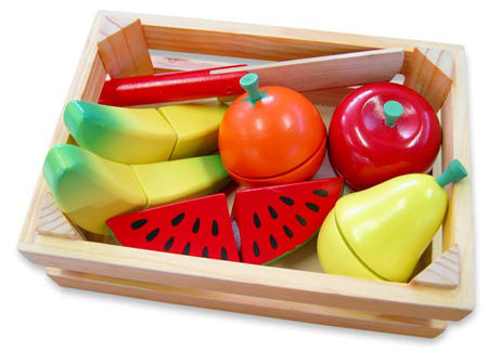 Wooden Velcro Fruit Crate Playfood My Wooden Toys
