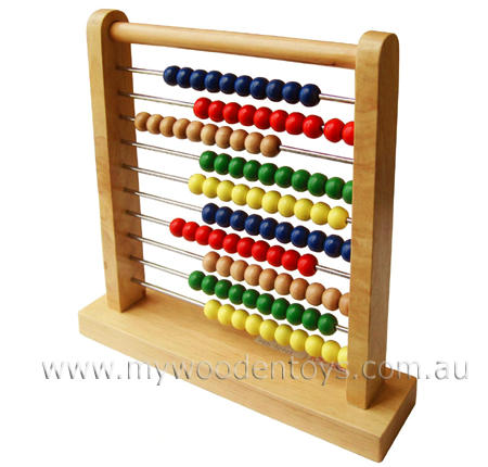 Abacus Counting Beads Traditional Educational at My Wooden Toys
