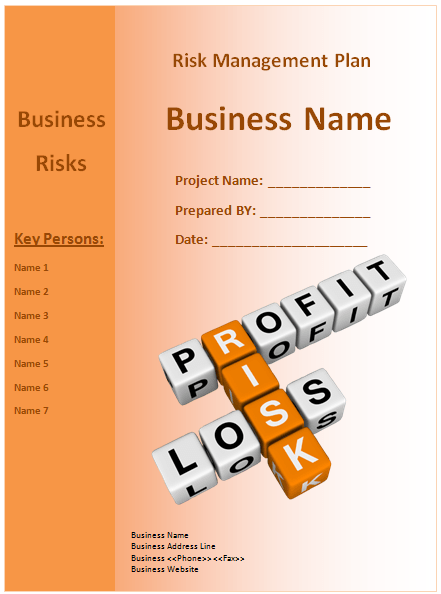 Risk Management Plan Template - Microsoft Word Templates