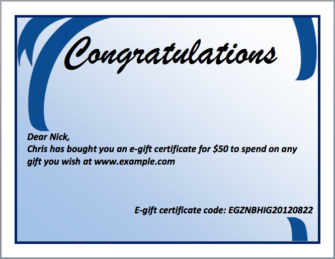 congratulation certificate template word