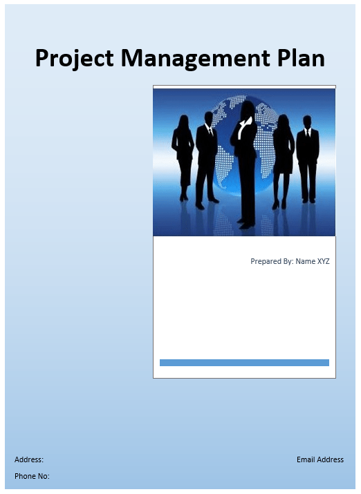Project Management Plan Template Microsoft Word Templates