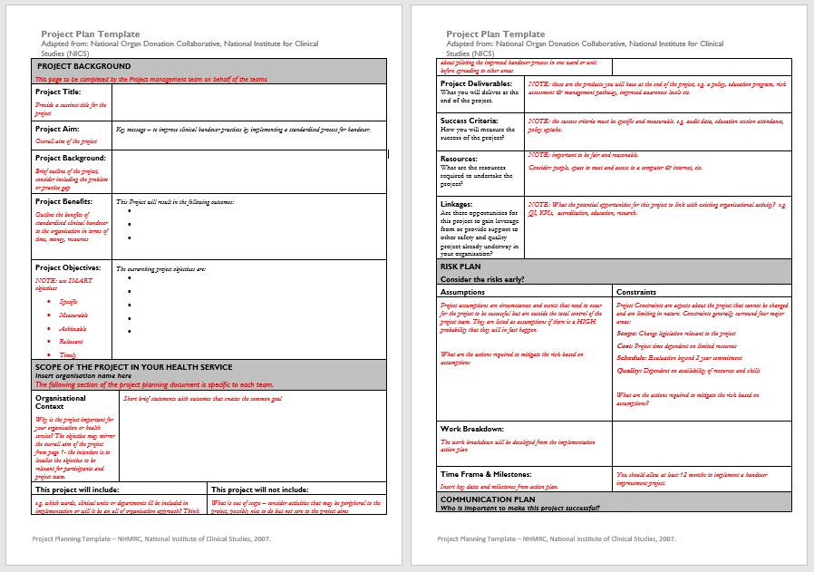 trip plan template