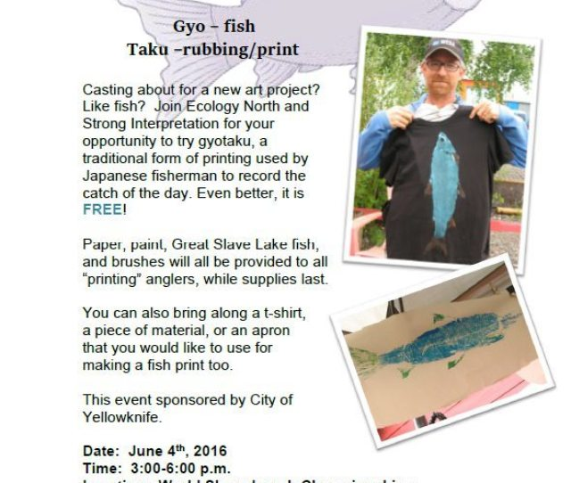 Casting About For A New Art Project Like Fish Join Ecology North And Strong Interpretation For Your Opportunity To Try Gyotaku A Traditional Form Of
