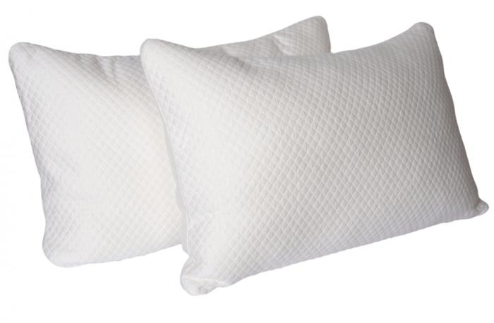 luxury bamboo memory foam pillow 2 pack