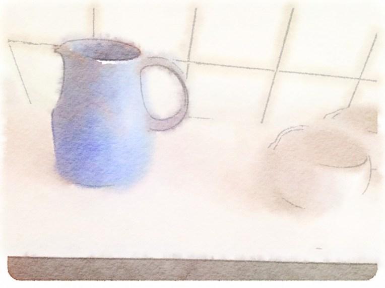 Milk Jug and White Bowl