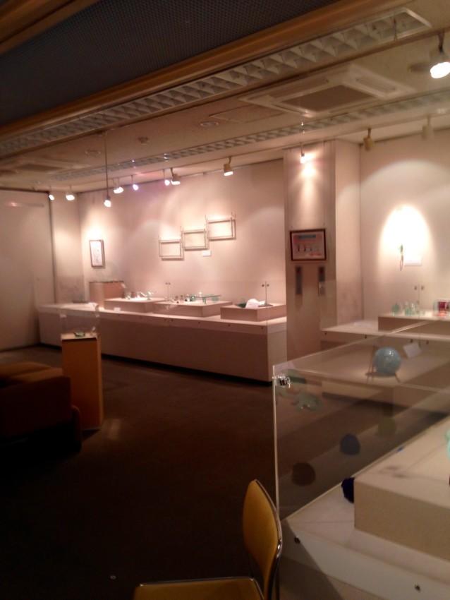 Glass by Shouhei Yasuda and Textiles by Hitoko Fujisaki on 2nd Floor