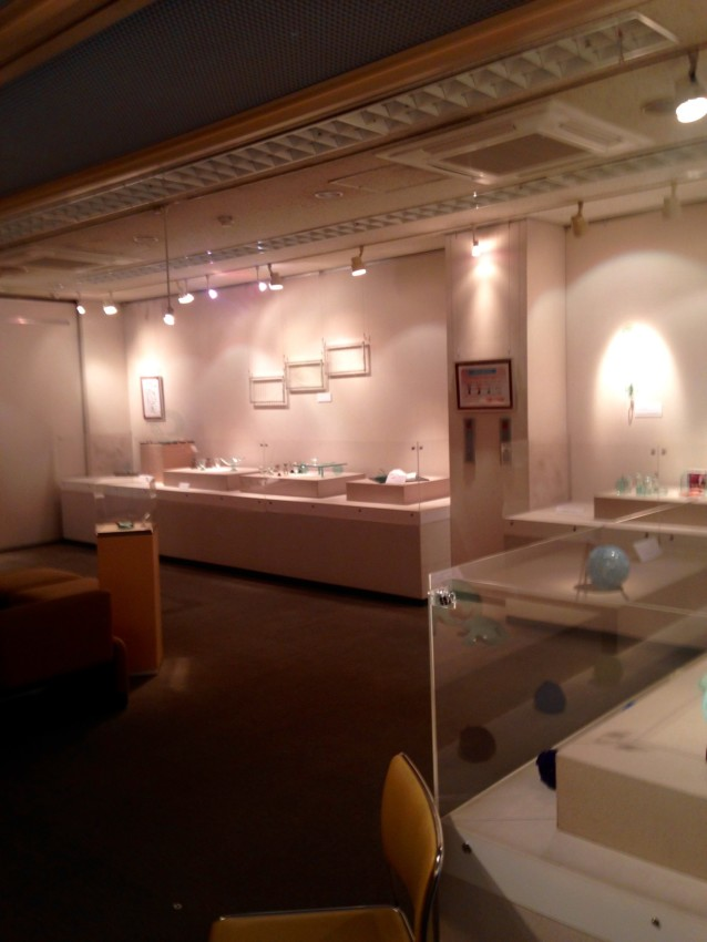Glass by Shouhei Yasuda and Textiles by Hitoko Fujisaki on 2nd Floor