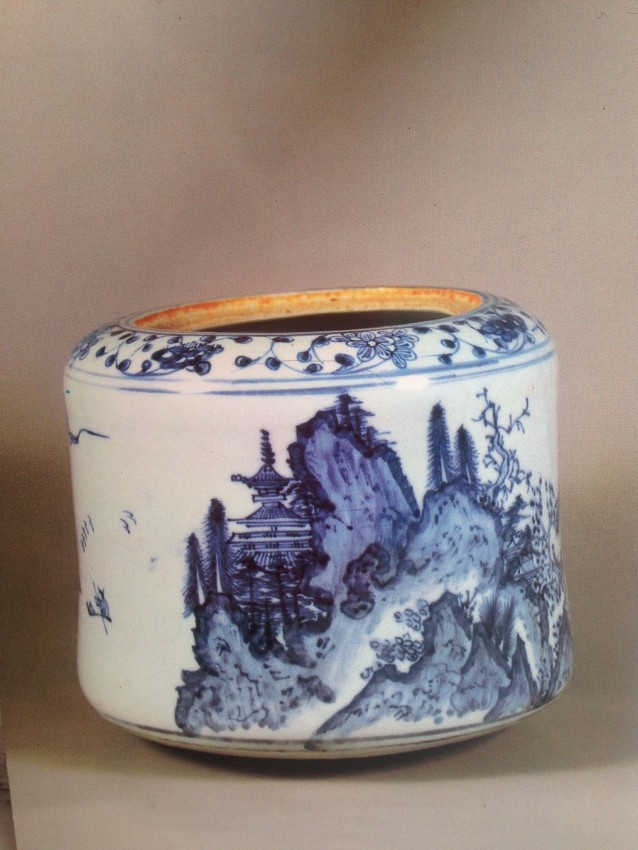 Imari water jar from the Edo period in the 17th century