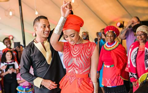 Sarah Langa Heaton and Jehan Mackay Wedding