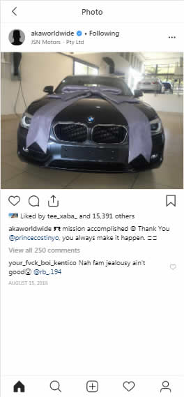 AKA Buys His Mom Lynn Forbes Brand New car