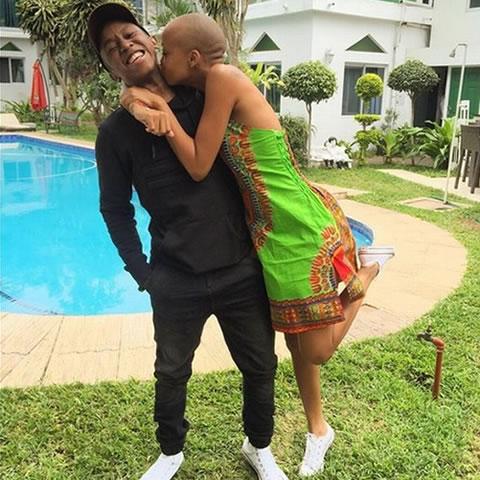 Ntando Duma and Boyfriend Junior de Rocka