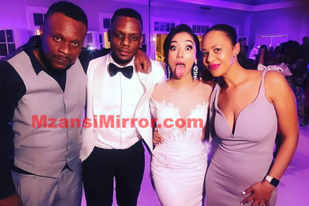 Slikour Siyabonga Metane and wife Melissa Wilkinson wedding