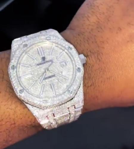 Cassper Nyovest diamond Audemars Piguet Watch