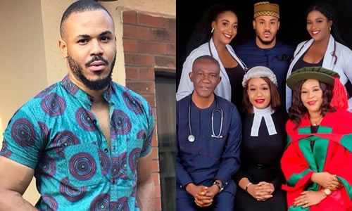 BBNaija 2020: Meet Ozo's Father and two sisters who are doctors, his professor Mother and lawyer sister [Photo]
