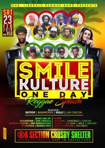 Smile Kulture One Day Reggae Splash 2019 @ A Section Crosby Shelter