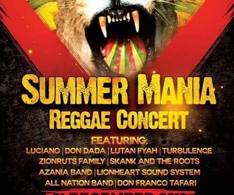 Summer Mania Reggae Concert