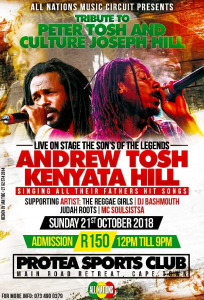 Andrew Tosh and Kenyata Hill Live in Cape Town @ Protea Sports Club