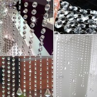 2Pcs Clear Crystal Glass Chandelier Swag Prism Wedding ...