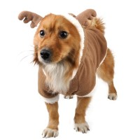 Reindeer Puppy Pet Dog Cat Clothes Costume Coat Hoodie ...