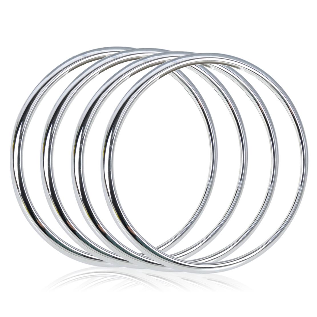 4X Audio Lautsprecher Blende Ring Chrom Rahmen Zierleisten