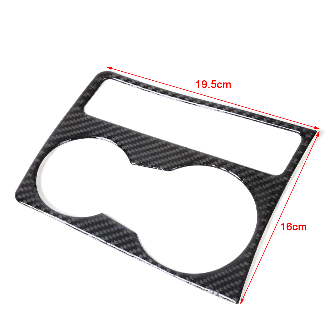 Hotsale Interior Cup Holder Panel Decor Frame Carbon Fiber