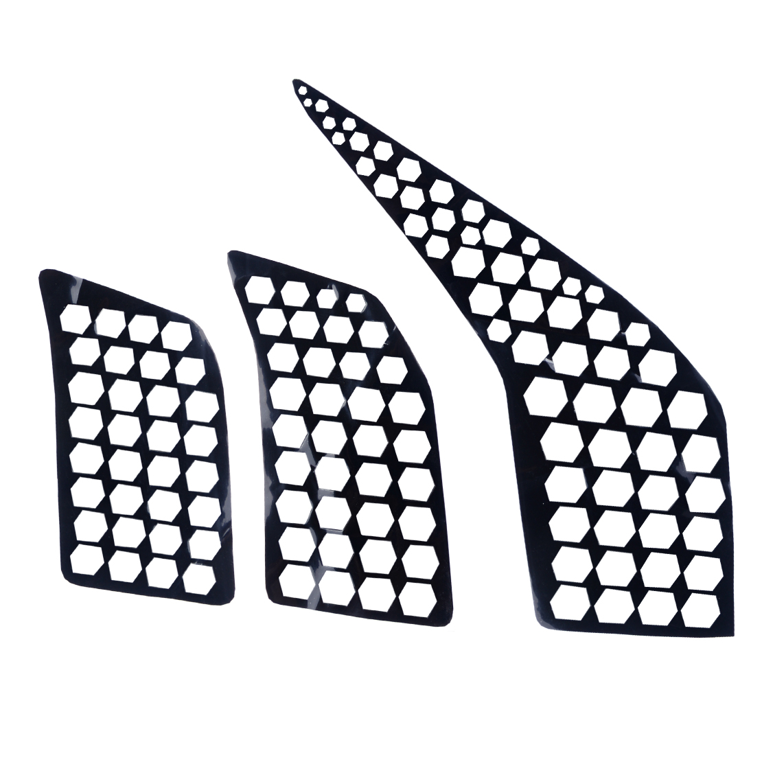 6pcs Rear Tail Light Honeycomb Style Stickers Cover For