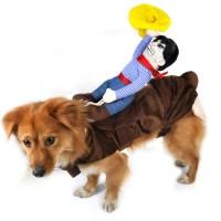 Cowboy Dog Rider Christmas Costume Pet Puppy Dog Cat Coat ...