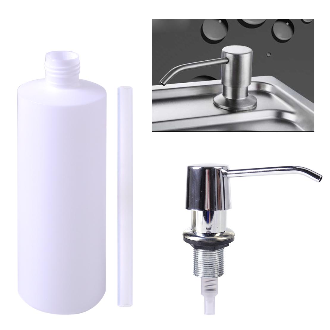 kitchen liquid dispenser knotty alder cabinets bathroom sink soap holder plastic