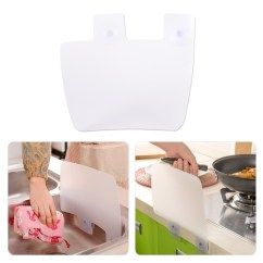 Splash Guard Kitchen Sink Hide Trash Can Water Guards Spitting Baffle