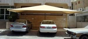 مظلات هرمية للسيارات بي في سي