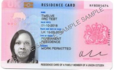 Image result for residence card uk