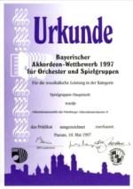 Bayerischer Wettbewerb für AO in Passau - 1997