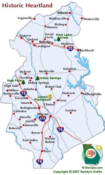 Map Warner Robins Ga
