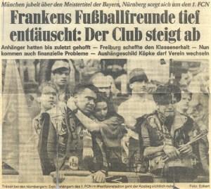 Abstieg 1994 Nürnberg in Dortmund
