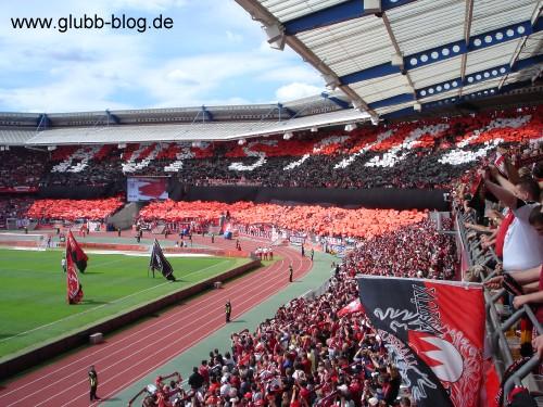 Choreographie zum Aufstieg 1.FC Nürnberg Club Glubb