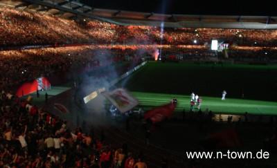 Feier nach Pokalerfolg Nürnberg Frankfurt
