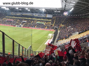 Glubberer des FCN bei Dynamo Dresden