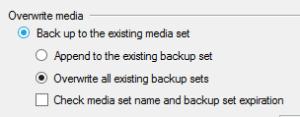 Overwrite old backups