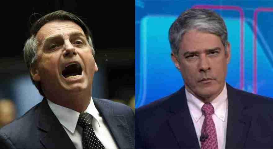 Bolsonaro detona Globo e fala de filho de William Bonner e do Jornal Nacional