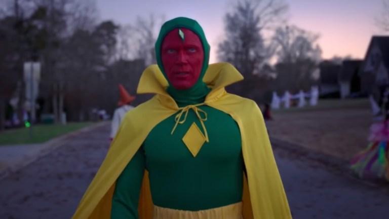 (Paul Bettany (Visão) em cena da série 'WandaVision' / Foto: Marvel Studios/Reprodução)
