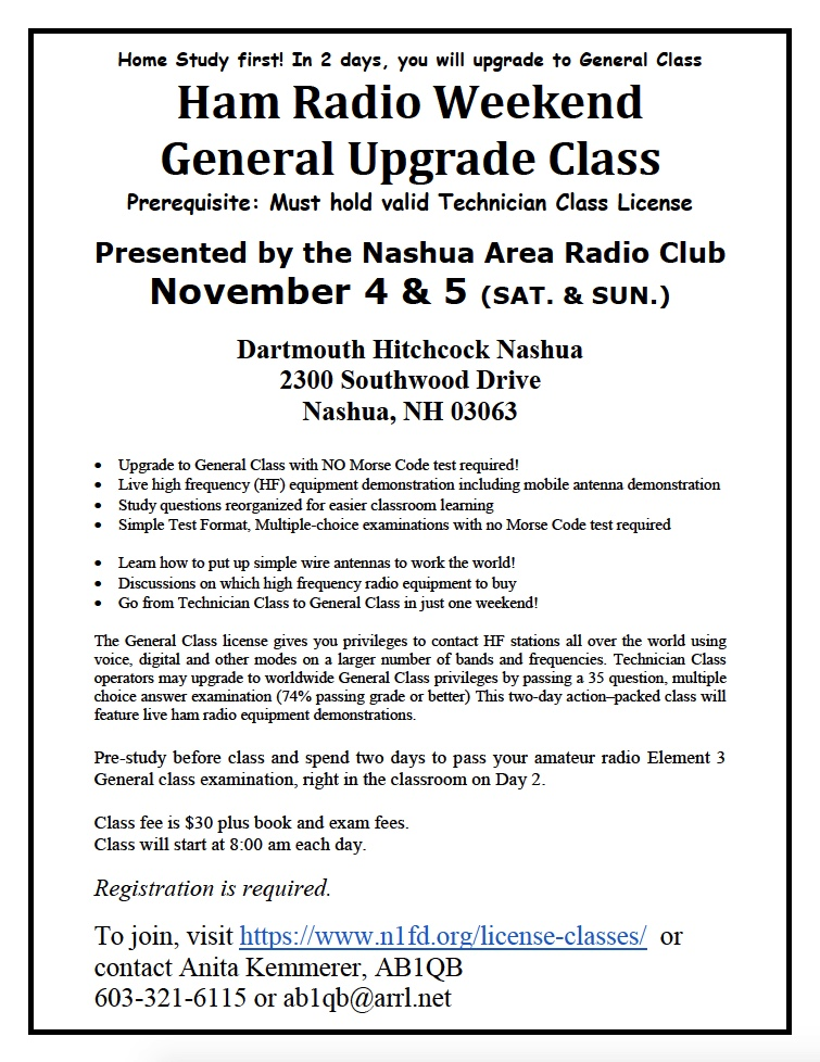Amateur Radio License Class - Fall 2017 General