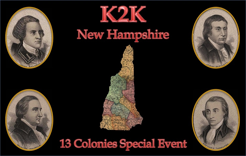 13 Colonies Special Event - K2K QSL Card