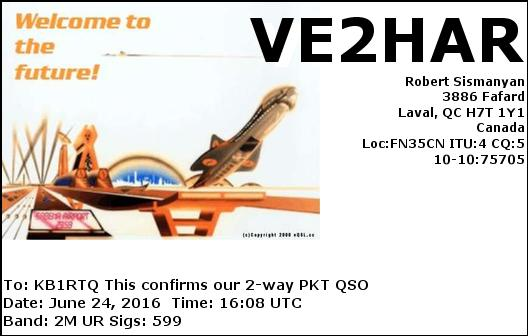ISS Packet Contact QSL